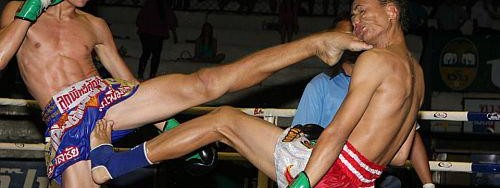 Neck strength in Muay Thai