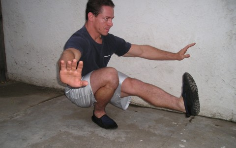 Steve Cotter performing a Single Leg (Pistol) Squat