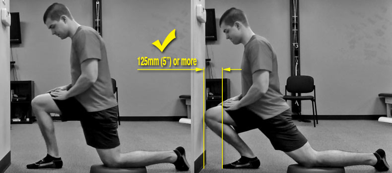Ankle range of motion test