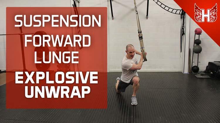 Forward Lunge Explosive Unwrap - alternative to med ball throw