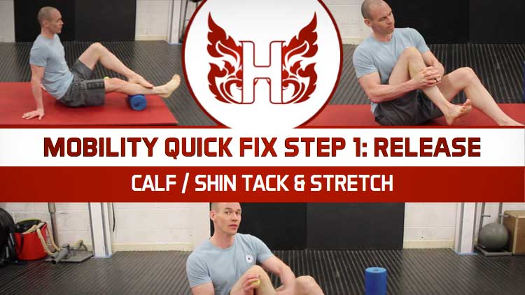 ANKLE MOBILITY QUICK FIX STEP 1: RELEASE – CALF / SHIN TACK AND STRETCH