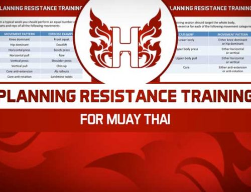 PLANNING MUAY THAI RESISTANCE TRAINING SESSIONS