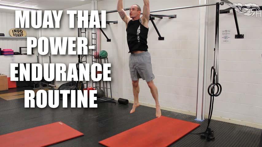 Muay Thai Power Endurance Finisher Routine
