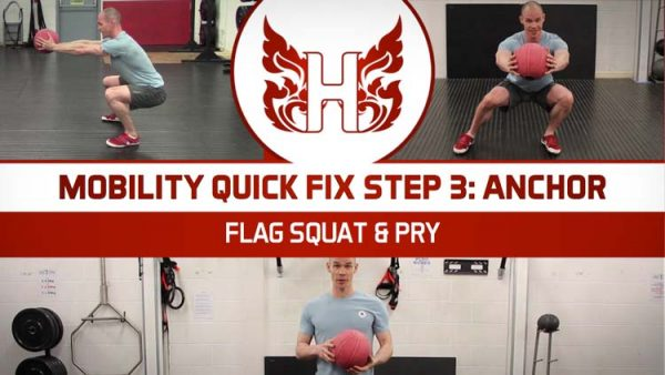 Flag Squat and Pry