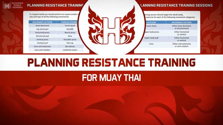 PLANNING MUAY THAI RESISTANCE TRAINING SESSIONS