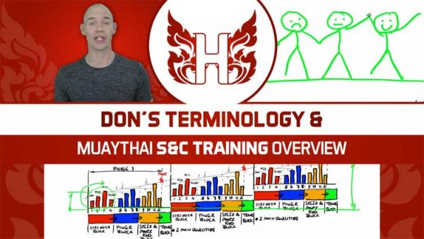 Dons terminology for Muay Thai strength and conditioning periodised programming