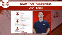 Muay Thai Training Week Cheat Sheet