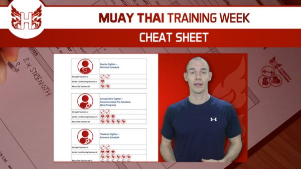 Muay Thai Training Week Cheat Sheet