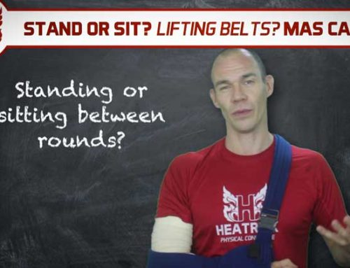 STAND OR SIT BETWEEN ROUNDS? – WEIGHTLIFTING BELTS? – MAS CARDIO?