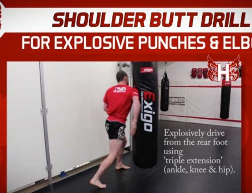 Shoulder Butt Drill For Explosive Punches and Elbow Strikes