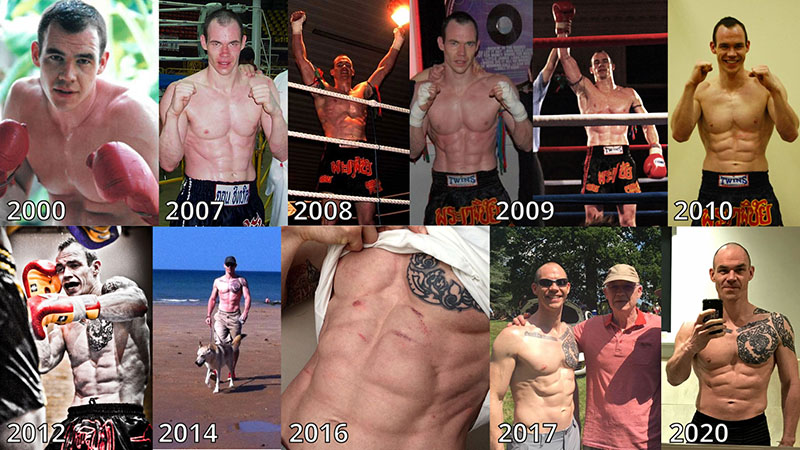 The author, Don Heatrick's body composition has remained largely consistent his whole life (aged 47 years)