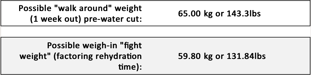 What Is My Ideal Fight Weight Class
