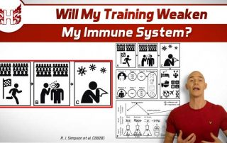 Will my training weaken my immune system?