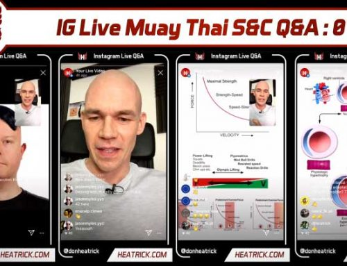 IG Live Muay Thai S&C Q&A 01 – Masturbation – Strength – Mobility – Aging – Theraband Punching