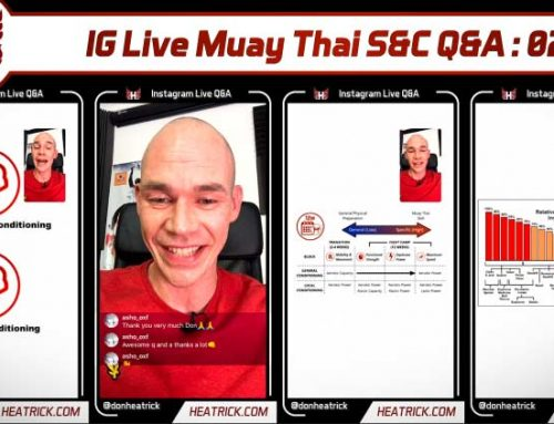 IG Live Muay Thai S&C Q&A 02 – Namman Muay – Shoulder Pain – Strength Block Conditioning – Bodyweight Strength – Top Principles & More
